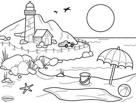 imagenes bonitas de paisajes para colorear e imprimir el sol dibujos para colorear