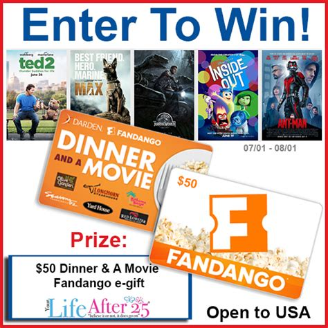 Where Do Fandango Gift Cards Work - fandango gift card giveaway mumblebee inc