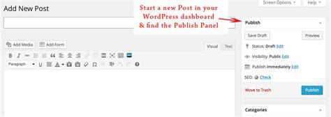 wordpress tutorial new post wordpress tutorial schedule posts in advance fotoskribe