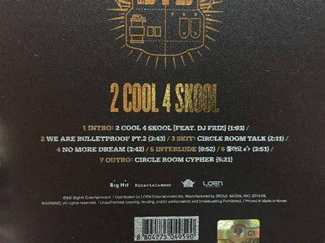 Bts 2 Cool 4 Skool Single unboxing bts 2 cool 4 skool 1st single album k pop