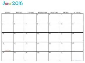june 2016 free printable calendar june 2016