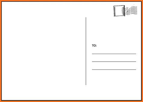 postcard template free blank printable postcard template images