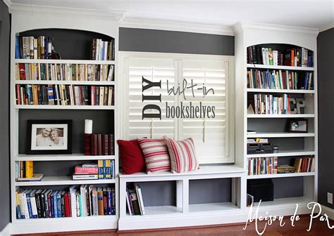 home office design books diy built in bookshelves maison de pax