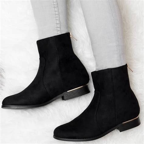 rolo black ankle boots shoes from spylovebuy
