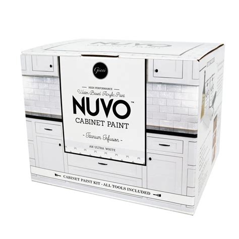 nuvo cabinet paint white nuvo 2 qt titanium infusion white cabinet paint kit fg