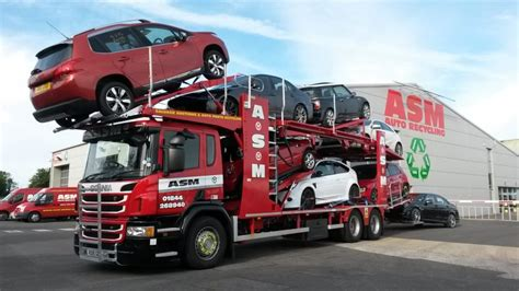 vehicle transport scrap car transporter asm auto recycling