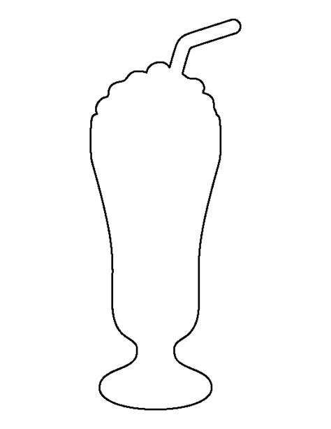 pattern stencil templates milkshake pattern use the printable outline for crafts