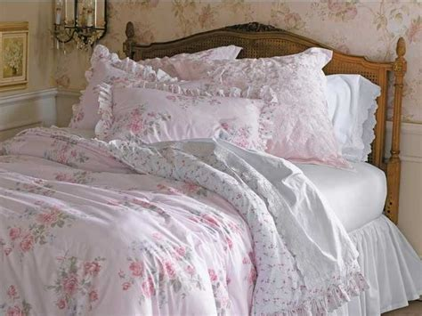 shabby chic comforter sets pink floral reversible