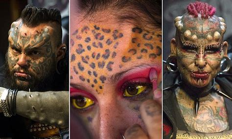 tattoo convention quito fans show off their horns and inkings at ecuador tattoo