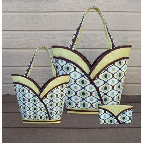 sewing pattern tote bag pockets petal pockets purse tote cosmetic bag sewing pattern