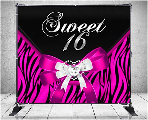 design banner sweet 17 backdrops nyc custom step and repeat banners signs ny