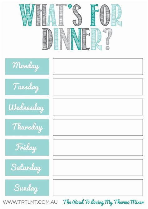 free fitness journal meal planning printables