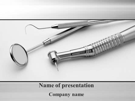 powered templates dental tools powerpoint template backgrounds 10056