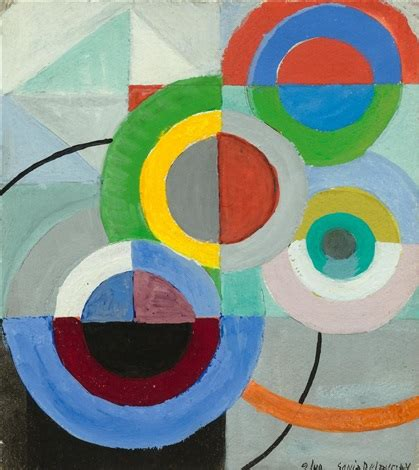 sonia delaunay spaightwood galleries composition opus 559 recto and reverse by sonia delaunay