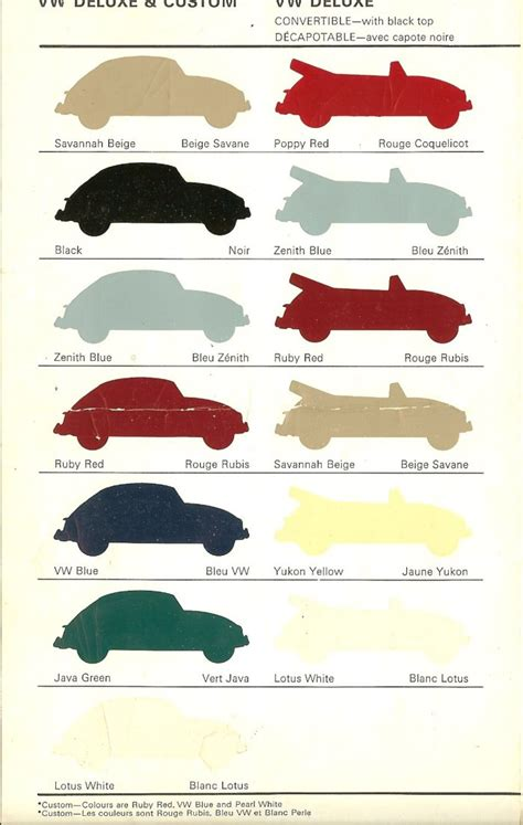 volkswagen colour chart thesamba vw archives 1967 vw color charts canada
