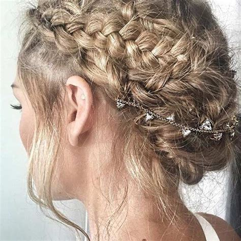 Wedding Boho Updo by 35 Gorgeous Updos For Bridesmaids Stayglam