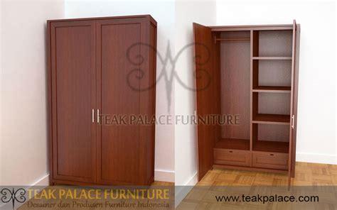 Lemari Kayu Pintu 2 lemari baju minimalis kayu jati jepara harga murah mebel