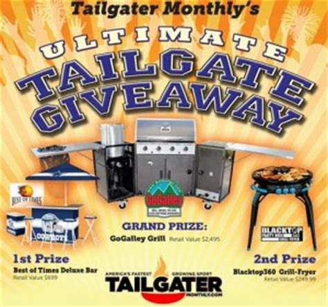 Tailgate Sweepstakes - ultimate tailgate giveaway sweepstakes