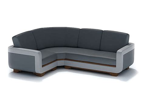L Shaped Black Leather Sofa by Modern L Shaped Black Leather 3d Model Cgtrader