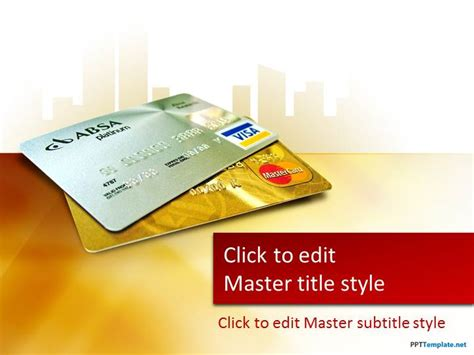 Credit Card Powerpoint Template by Free Credit Card Ppt Template