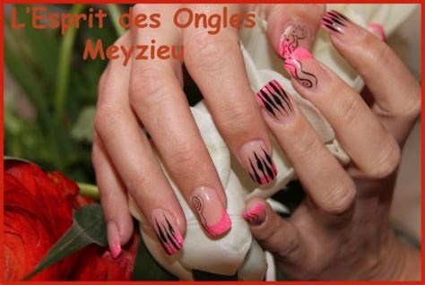 Modèle Ongles Gel Fantaisie by L Esprit Des Ongles Ongles R 233 Sine Et Gel Onglerie