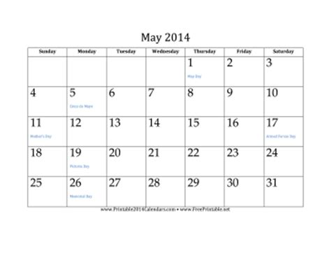 calendar template may 2014 printable may 2014 calendar