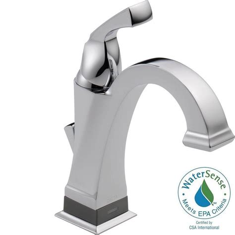 touch bathroom faucet delta dryden single hole single handle bathroom faucet