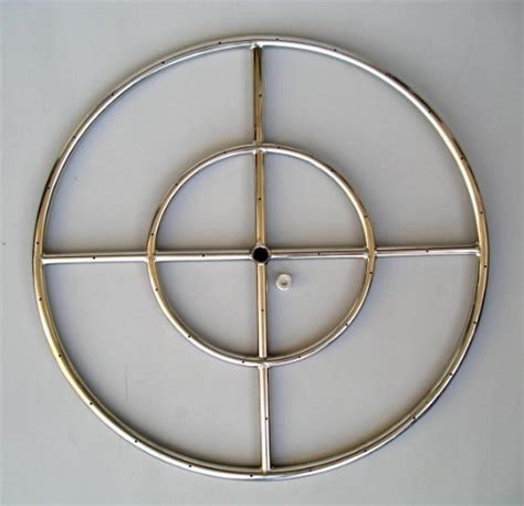 stainless steel pit ring pit ring 24 quot diameter stainless steel burner ring