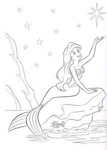 ariel mermaid coloring pages