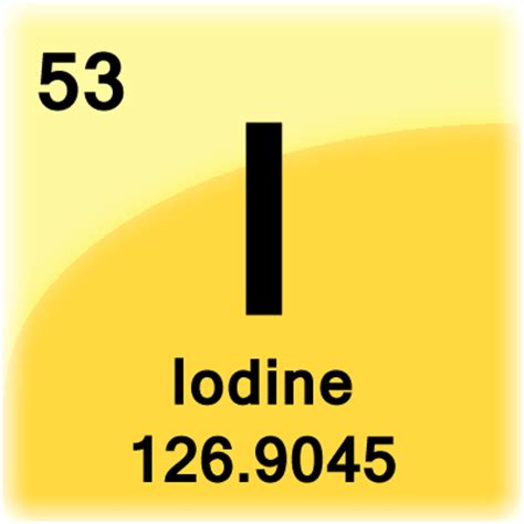 Iodine Periodic Table by Iodine Element Cell Science Notes And Projects