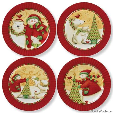 Home Christmas Decorating Service by Christmas Joys Dessert Plates Set