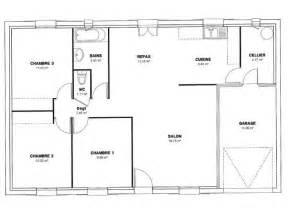 plan de plain pied 4 chambres gratuit top plan