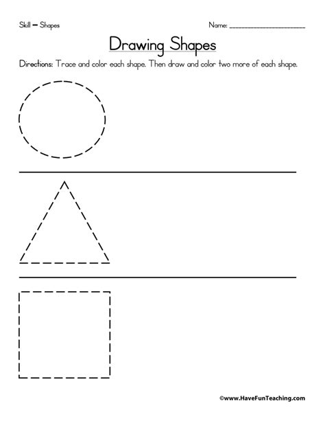 draw shapes drawing shapes worksheet teaching
