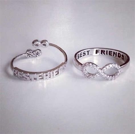 infinity ring best friends jewels ring silver silver ring bff best friends