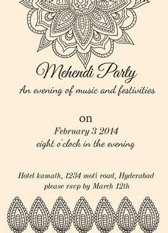 mehndi card template wording for mehndi invitation search wedding
