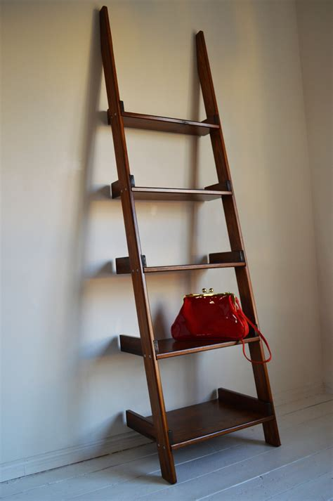 Decorative Wooden Ladder by Shelving Storage Home Decorative Wooden Ladder Unit