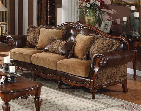 Faux Leather Sofa And Loveseat by Delphina Traditional Sofa Loveseat In Brown Faux Leather