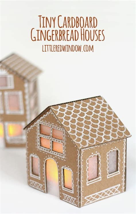 How To Make A Gingerbread House Out Of Paper - tiny cardboard gingerbread houses window