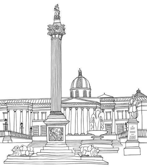 free coloring pages of trafalgar square