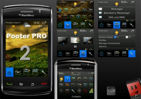 blackberry rc themes pooter pro 2 for bold 9000 themes free ota free