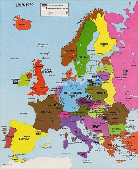 europe map 1919 st atlas index of maps