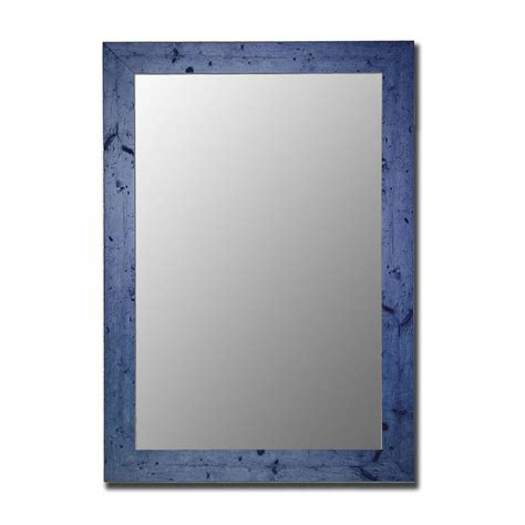 Shop hitchcock butterfield vintage blue beveled wall mirror at lowes com