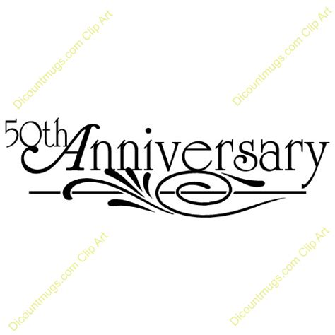 Happy 50th Anniversary Clip Art Quotes Clipart 50th Wedding Anniversary