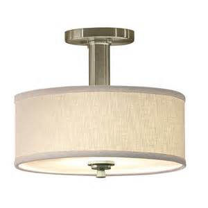 Lowes Kitchen Ceiling Lights Allen Roth Valencia 12 In Brushed Nickel Semi Flush