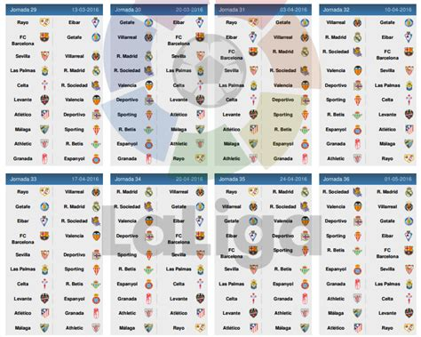 Calendrier De La Liga Bbva Calendrier De La Liga Bbva 2015 2016 Football Tennis