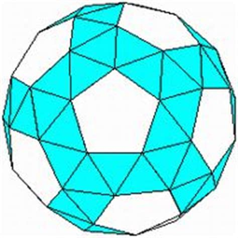 Paper Snub Dodecahedron - icosahedron net i use these for tree ornaments glue a