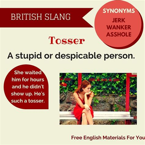 Idioms And Slangs tosser slang slang