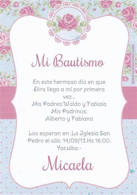 invitaciones de bautizo bautismo espanol invitacion tarjeta de invitacion bautismo micaela pinterest