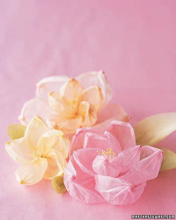 tissue paper flower tutorial martha stewart shaped crepe flowers