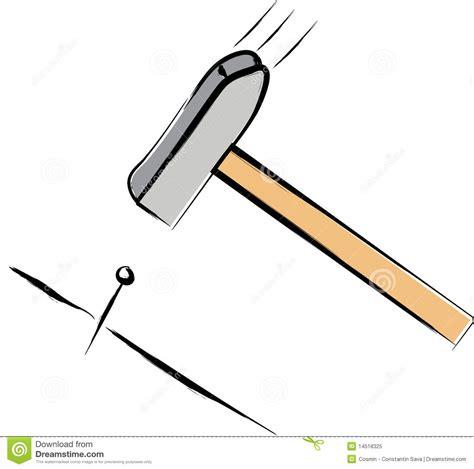Nagel Und Hammer by Hammer Und Nagel Lizenzfreies Stockfoto Bild 14518325